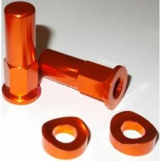 Nakrętki trzymaka opony Accel pomarańczowe
