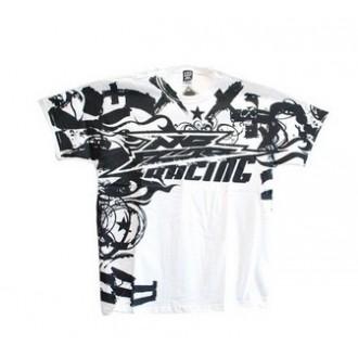 NO FEAR koszulka T-shirt Racing Scribble biała M
