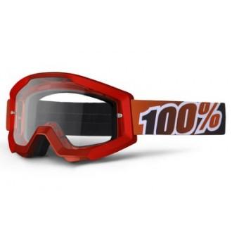 100% PROCENT gogle Strata FireRed czerwone