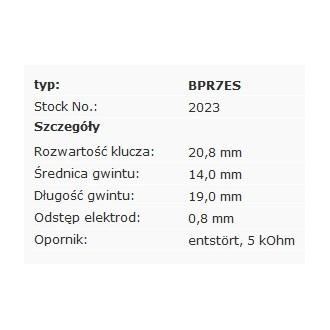 Świeca zapłonowa NGK BPR7ES 2023