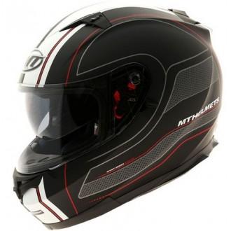 MT Blade Raceline kask czarno biało czerwony roz S