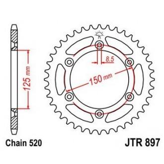 Zębatka tylna JTR897.50 520 KTM SX/EXC