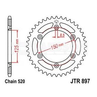 Zębatka tylna JT R897-45 45Z 520 stalowa KTM