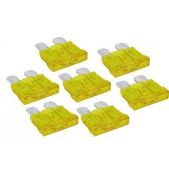 Komplet bezpieczników płaskich UNI 20A 50 sztuk