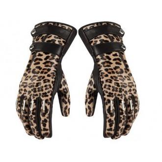 Rękawice damskie ICON Catwalk Leopard panterka S