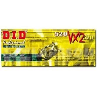 Łańcuch napędowy DID 520 VX2 G&B 114 ogniw złoty