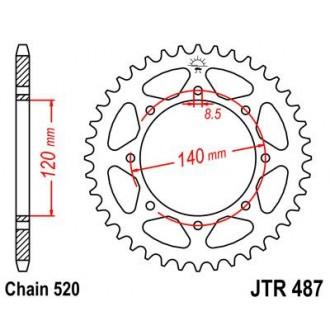 Zębatka tylna JT  JTR487.46 stalowa 46 zębów