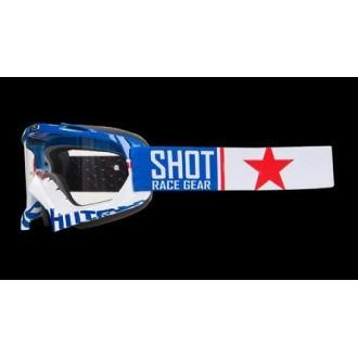 Gogle SHOT Racing Creed United biało niebieskie