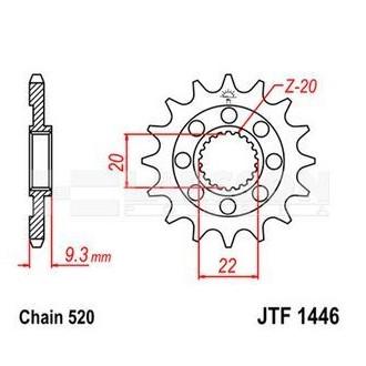 Zębatka przednia JT F1446-13 SC, RAC 13Z,