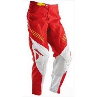 Spodnie cross enduro THOR Phase biało czerwone 34