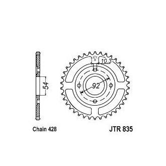 Zębatka tylna 49 JTR835.49