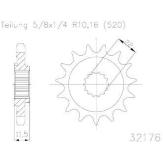 Zębatka przednia 14 50-32176-14 14Z Esjot 520