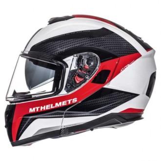 Kask M szczękowy Flip-Up Atom MT Helmets wh/bl/red