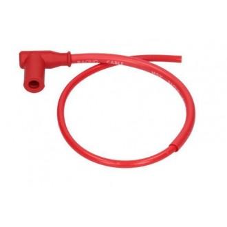 Fajka zapłonowa 90stopni przewód 50cmm czerwony