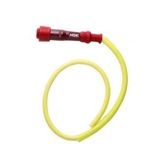 Fajka zapłonowa ebonitowa prosta czerwona /przewód