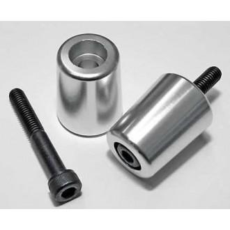 Końcówki kierownicy aluminiowe srebrne Suzuki