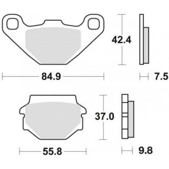 Klocki hamulcowe TRW MCB523 KH67