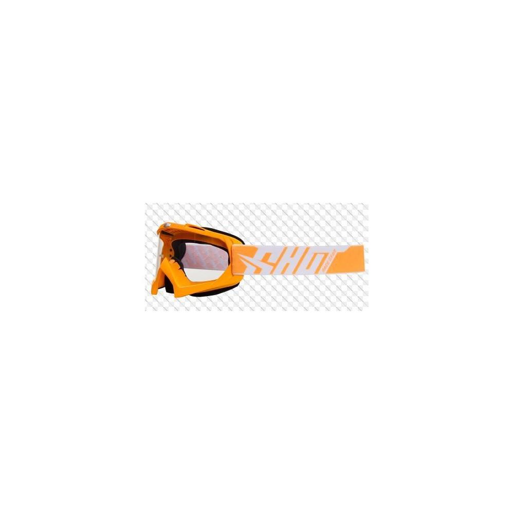 Gogle Shot Racing Creed pomarańczowe