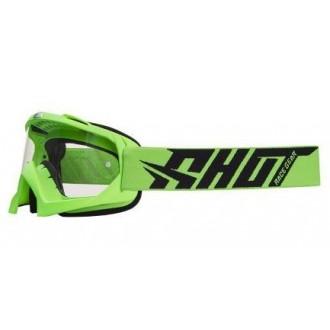 Gogle Shot Creed zielone szyba przeźroczysta