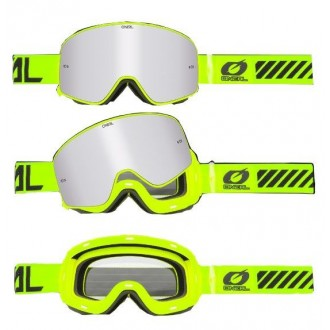 Gogle Oneal magnetic MX B-50 zielone/fluo
