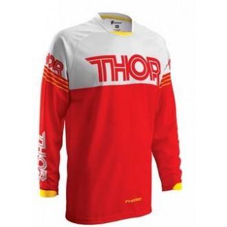 Koszulka cross enduro THOR Phase biało czerwona L