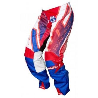 Spodnie 32 JT Racing niebiesko czerwono białe