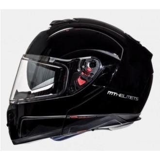 Kask XXL szczękowy Flip-Up Atom MT Helmets czarny połysk