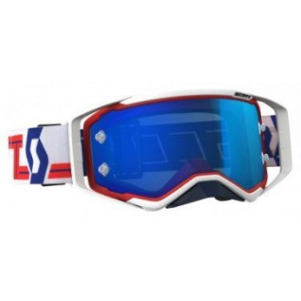 Gogle Scoot Prospect red/white electric blue chrom