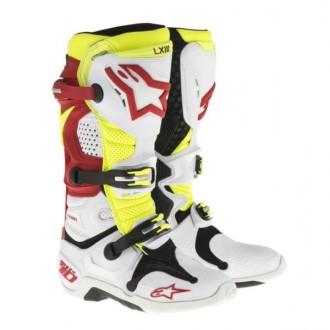 Buty 45,5 Alpinestars Tech10 Biało/czer/żółte