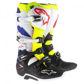 Buty 44,5 Alpinestars Tech 7 biało/żółto/nieb
