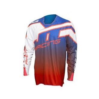 Koszulka L JT Racing niebiesko czerwono biała