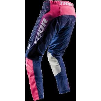 Spodnie 5/6 damskie Thor S8W Pulse granat-różowe