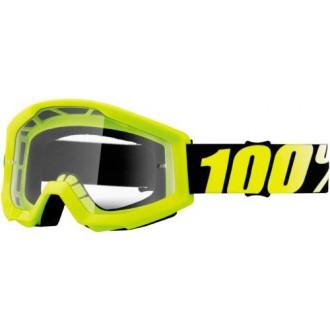 Gogle 100% Strata Neon Yellow żółte