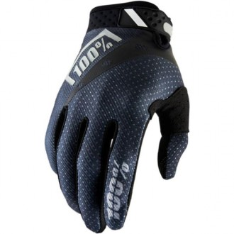 Rękawice S 100% Ridefit czarno-grafitowe