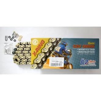 Łańcuch napędowy CZ 116 ogniw ORMX X-Ring gold