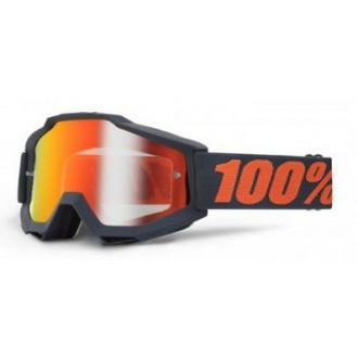100 PROCENT gogle Accuri Gunmetal bla/red lustro