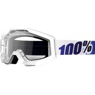100 PROCENT gogle Strata IceAge  wht/blu clear