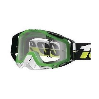 Gogle 100% Racecraft czarno-zielone