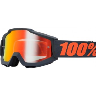 100 PROCENT gogle Accuri Gunmetal blk/red lustro