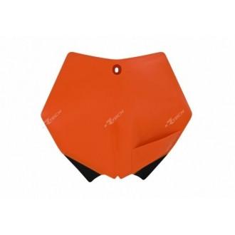 RACETECH plastron pole numerowe KTM SX EXC 07-12  pomarańczowy TBKTMAR0007
