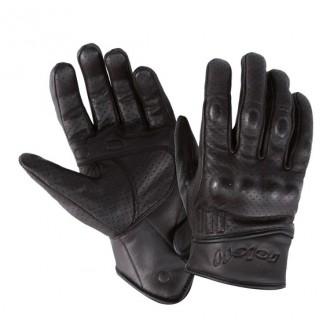 ROLEFF rękawice  krótkie czarne skóra RO71