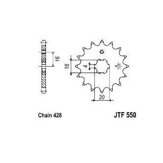 GROSSKOPF ZĘBATKA PRZEDNIA 554 15 (JTF550.15)