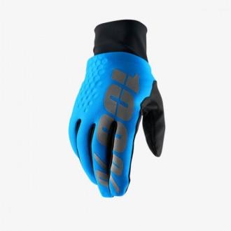 Rękawice XXL 100% HYDROMATIC BRISKER niebieskie