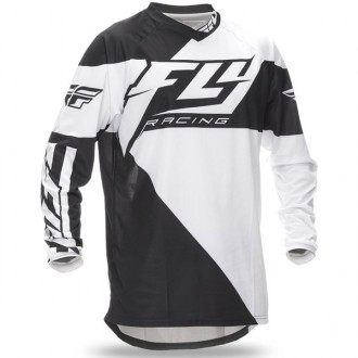 FLY F-16 koszulka czarno biała roz XXL 2XL