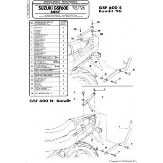 KAPPA stelaż kufra centralnego GSF 600/1200 96-99