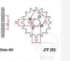 Zębatka przednia JT 253 12 HONDA