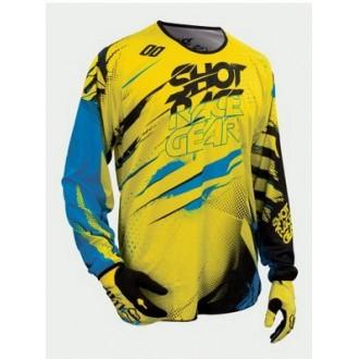 SHOT koszulka Devo Capture żółty fluo/blu/bla M