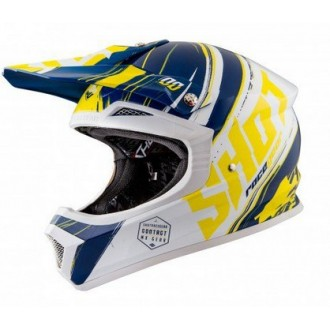SHOT RACING (2016) KASK bl/wh/yel M