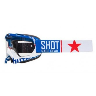 SHOT RACING gogle creed united  wh/blu/red clar