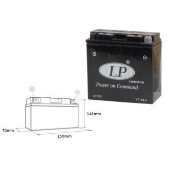 Akumulator bezobsługowy LANDPORT YT14B-4 12V 12AH